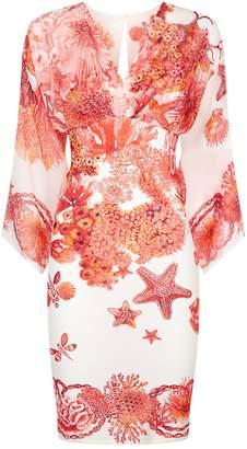 Roberto Cavalli Kaftan Sleeve Dress