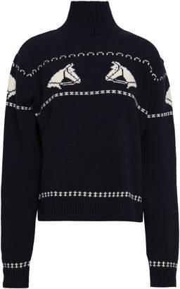 ALEXACHUNG ウールジャカード タートルネックセーター