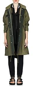Sacai Women's Canvas Oversized Fishtail Parka - Dk. Green