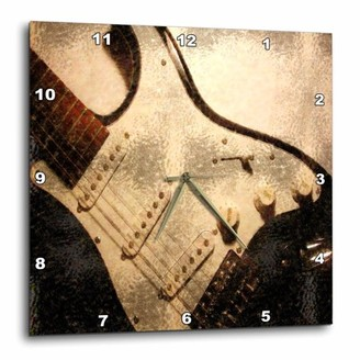 3dRose Old Electric Guitar In Abstract, Wall Clock, 10 by 10-inch