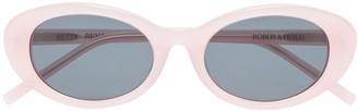 Roberi & Fraud light Pink Betty Oval Sunglasses