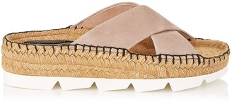 Jimmy Choo DANAE FLAT Ballet Pink Suede Sandals