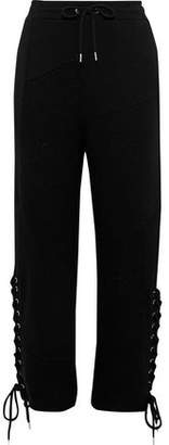 McQ Lace-Up Cotton-Jersey Track Pants