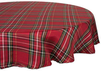 Design Imports Holiday Metallic Plaid Tablecloth