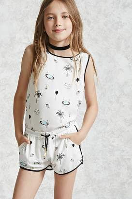 Forever 21 Girls Balloon Print Shorts (Kids)