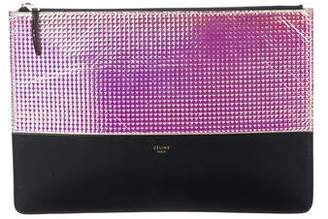 Celine Iridescent & Leather Solo Clutch Pouch