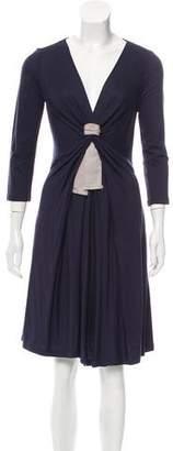 Paule Ka Draped Knee-Length Dress