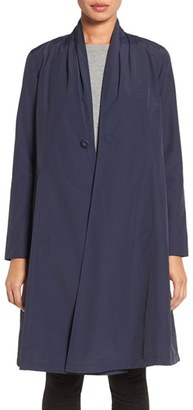 Eileen Fisher Lightweight Shawl Collar Organic Cotton Blend Long Coat $268 thestylecure.com
