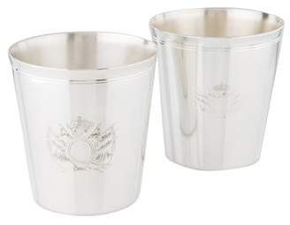 Christofle Silverplate Double Old Fashioned Glasses