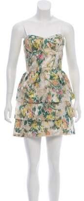Alice + Olivia Tiered Jacquard Dress
