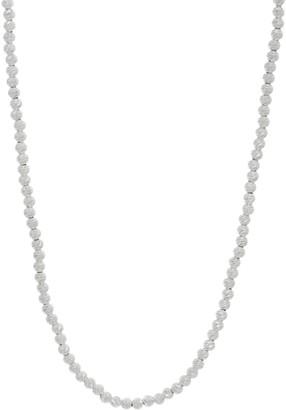 Sterling Diamond Cut Adjustable Necklace by Silver Style