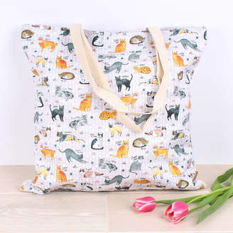 Milly Green Curious Cats Extra Large Shopper