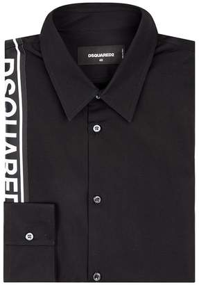 DSQUARED2 Logo Tape Cotton Shirt
