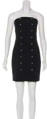 Intermix Strapless Mini Dress Black Strapless Mini Dress