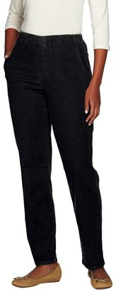 """Denim & Co. Denim & Company """"How Timeless"""" Regular 4-Pocket Pull-On Jeans"""