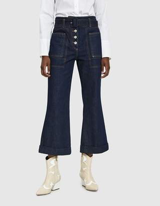 Carven Belted Denim Trouser