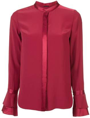 Elie Tahari satin-trim blouse