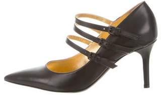 Bottega Veneta Leather Pointed-Toe Pumps
