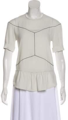 Isabel Marant Scoop Neck Short Sleeve Top