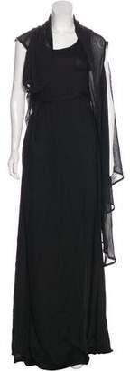 Ann Demeulemeester Asymmetrical Sleeve Maxi Dress w/ Tags