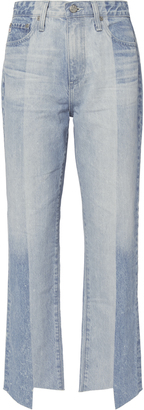 AG Phoebe Two-Tone Step Hem Jeans $325 thestylecure.com