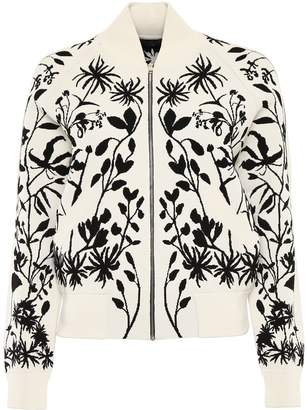Alexander McQueen Botanical Knit Bomber Jacket