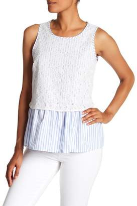 Pleione Lace Overlay Tank