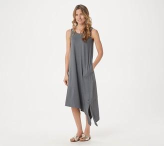 Cuddl Duds Flexwear Asymmetric Dress with Pockets