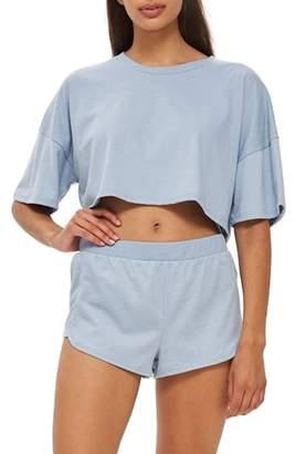 Topshop Jersey Crop Pajamas