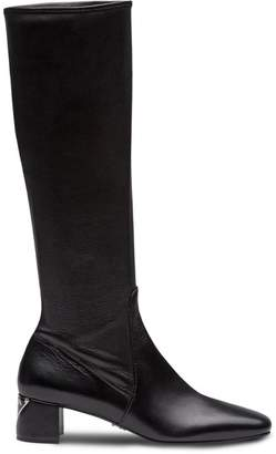 Prada stretch nappa leather boots