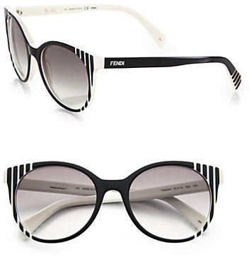 Fendi Round Plastic Sunglasses