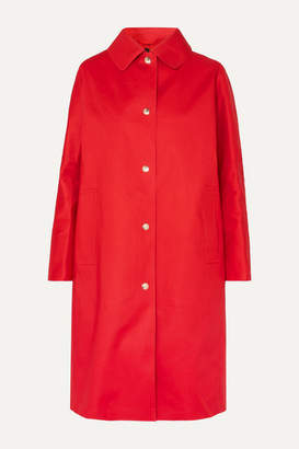 MACKINTOSH Fairlie Bonded Cotton Coat - Red