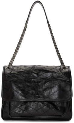 Saint Laurent Black Niki Monogramme Chain Bag