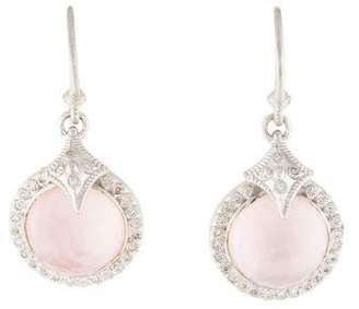 Armenta Rose Quartz & Diamond New World Earrings