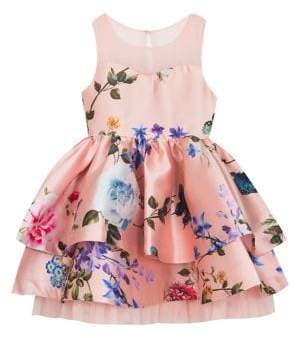 38cddf73a41ec Rare Editions Little Girl's Tiered Floral Dress