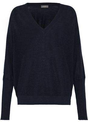 N.Peal Cashmere And Silk-Blend Sweater