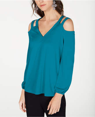 78b7ecbe2bddd3 INC International Concepts I.N.C. Cutout Cold-Shoulder Top