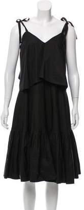 Salvatore Ferragamo Oversize Midi Dress