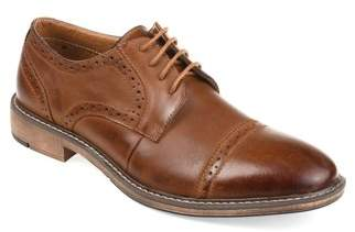 Territory Men's Genuine Leather Lace-Up Cap-Toe Brogue Dress Shoes