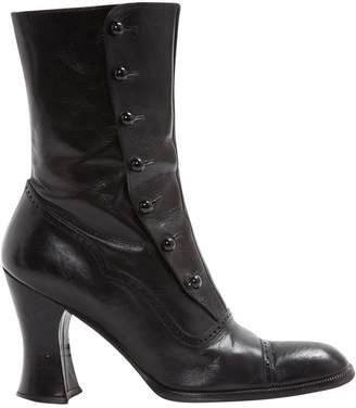 Pollini Leather Ankle Boots