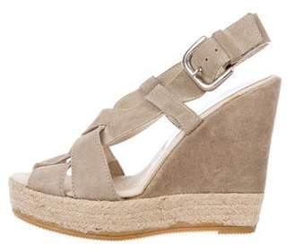Bettye Muller Suede Multi-Strap Wedges