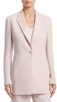 Akris Ocean Linen& Wool Long Jacket