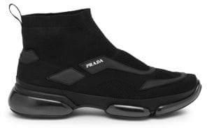 Prada Cloudbust Mesh High-Top Sneakers