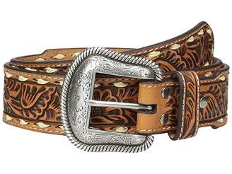 M&F Western Floral Embossed Laced Edge Belt