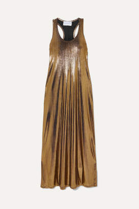 Marie France Van Damme - Metallic Crinkled-jersey Maxi Dress - Gold