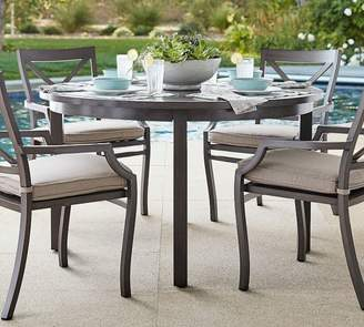 "Pottery Barn Canyon Metal Parsons 52"" Round Dining Table"