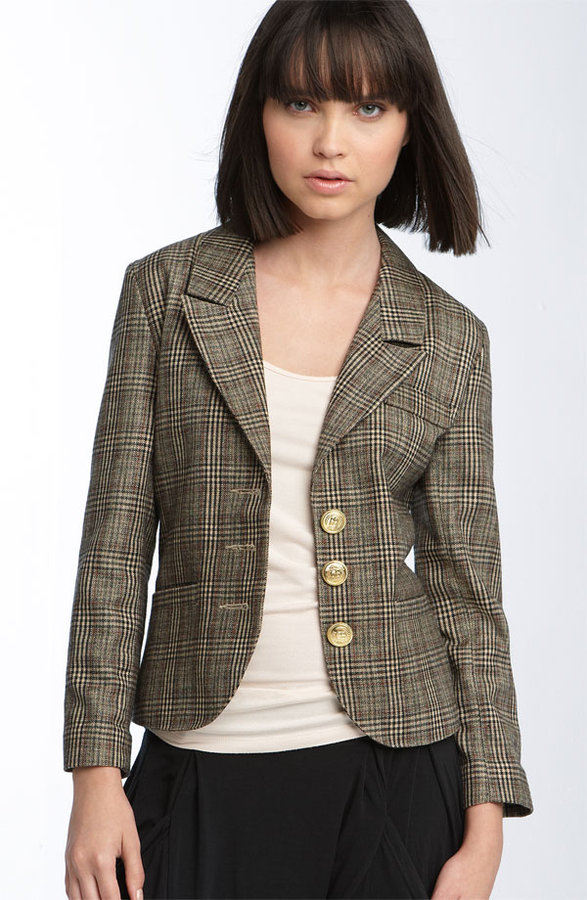 Eight Sixty Shrunken Plaid Jacket