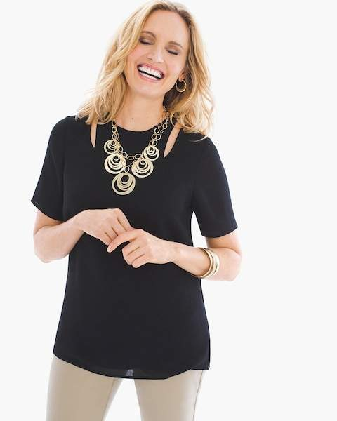 Chico's Cutout Cold-Shoulder Tunic
