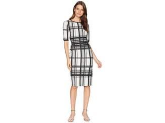 Taylor Plaid Midi Dress