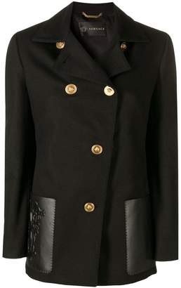 Versace double breasted fitted jacket